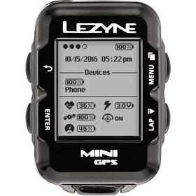 Lezyne Mini GPS Fahrradcomputer mit Herzfrequenzmessgerät und Speed Cadence Sensor schwarz